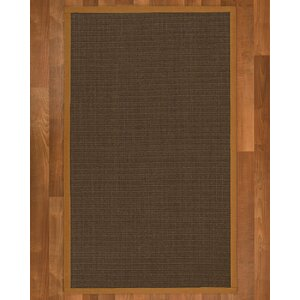 Beck Contemporary Hand Woven Brown Area Rug