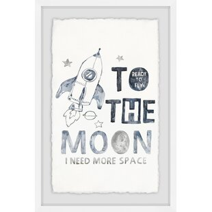 'Ready To Fly To The Moon And Space II' Framed Art By HoneyBee Nursery