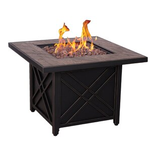 Afterglow Darwin Stainless Steel Propane and Natural Gas Fire Pit Table