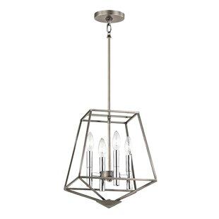Wrought Studio Bracco 4-Light Geometric Chandelier