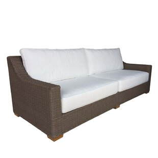 Bayou Breeze Hobson Patio Sofa with Sunbrella Cushions