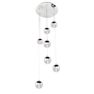 Talitha 7-Light LED Cluster Pendant by Orren Ellis