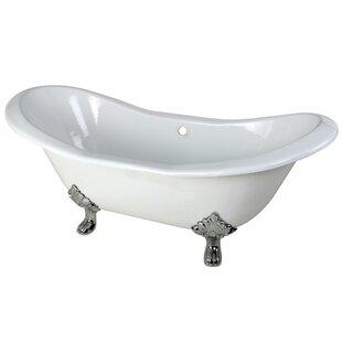 Kingston Brass Aqua Eden 72.06 X 30.88 Freestanding Soaking Bathtub
