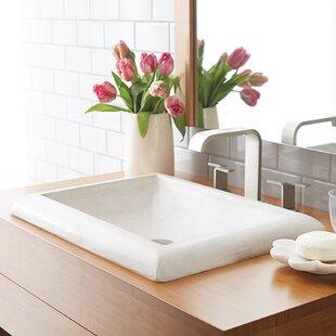 Montecito Stone Rectangular Drop-In Bathroom Sink ByNative Trails, Inc.