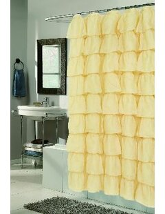 Atia Voile Ruffle Tier Shower Curtain by Ophelia & Co.