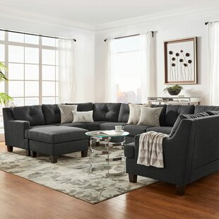 Brayden Studio Doane 9 Seat Reversible Sectional with Ottoman
