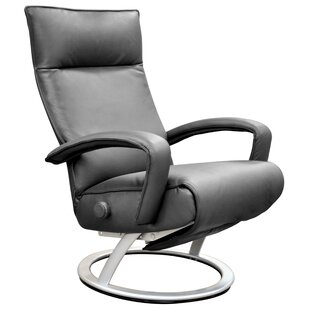 Gaga Leather Manual Swivel Recliner by Lafer
