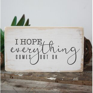 i hope everythin comes out ok funny bathroom sign wall decor - Funny Bathroom Signs