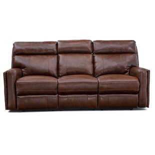 Williston Forge Graziano Leather Home Theater Sofa