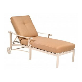 Woodard Bungalow Reclining Chaise Lounge with Cushion