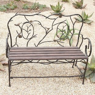 Entryway Iron Garden Bench