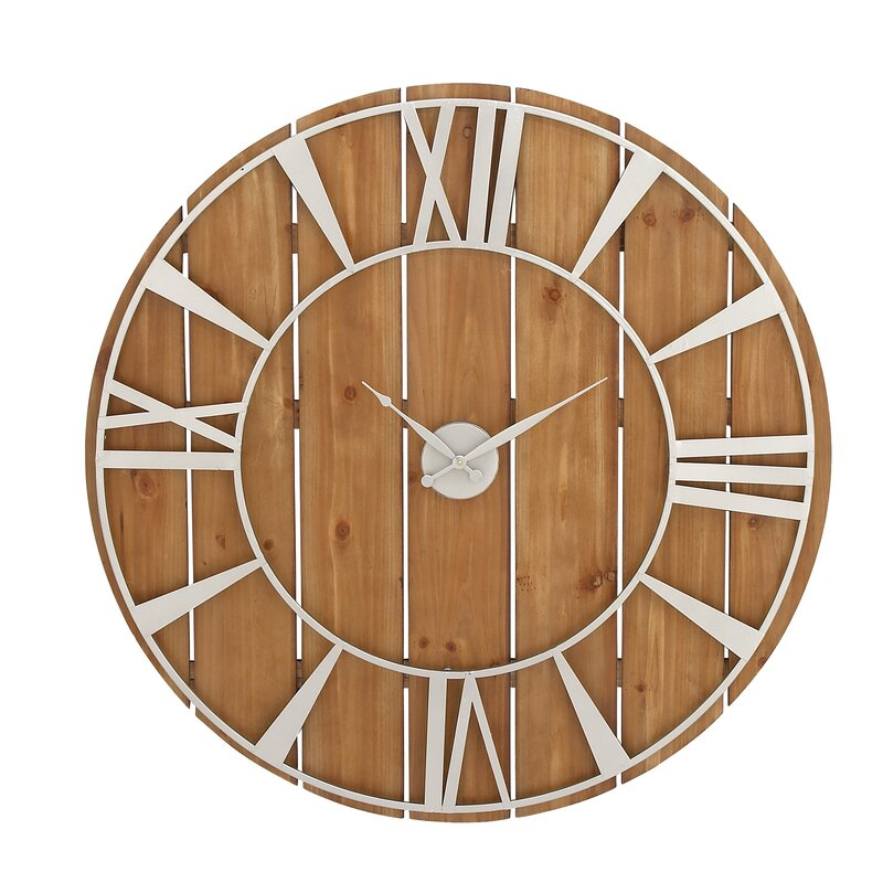 Millwood Pines Oversized Doan 36 Wall Clock Reviews Wayfair