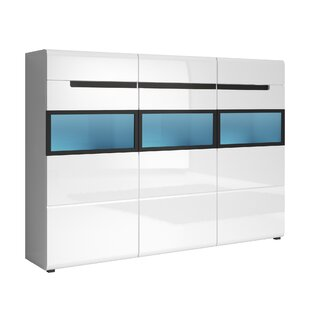 Korina Gloss 3 Door Accent Cabinet