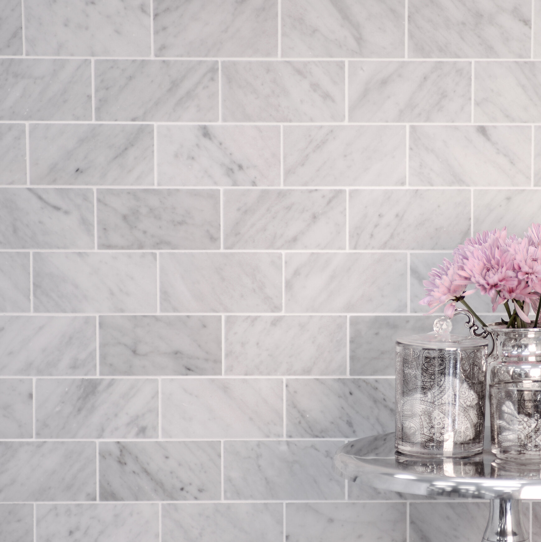 Gsmt 3 X 12 Honed Marble Field Tile In White Carrara Reviews Wayfair