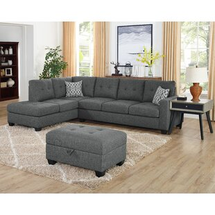 Baret Reversible Sectional with Ottoman