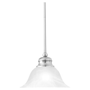 Kern Alabaster 1-Light Cone Pendant by Winston Porter