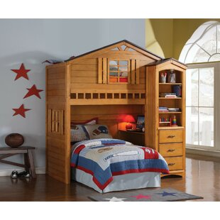 Krajewski Tree House Panel Loft Bed by Zoomie Kids