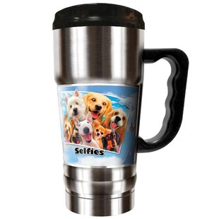 Dog Selfies 20 oz. Stainless Steel Travel Tumbler