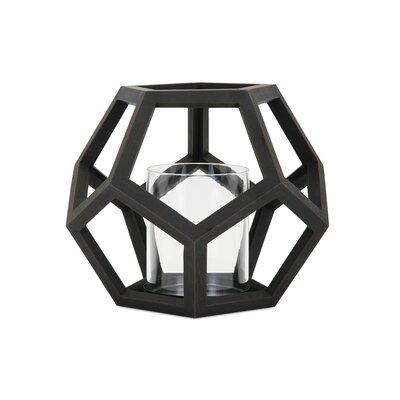 Brayden Studio Wood Lantern Size: 10 H x 11 W x 11 D