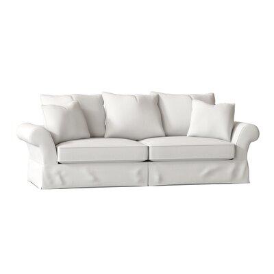 "Bleckley 98"""" Rolled Arm Sofa Bed Body Fabric: Classic Bleach White -  BirchLane, 4F413269BF904D73908A402B02D2E968"