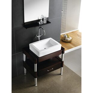 Kingston Brass Pacifica Ceramic Rectangular Drop-In Bathroom Sink