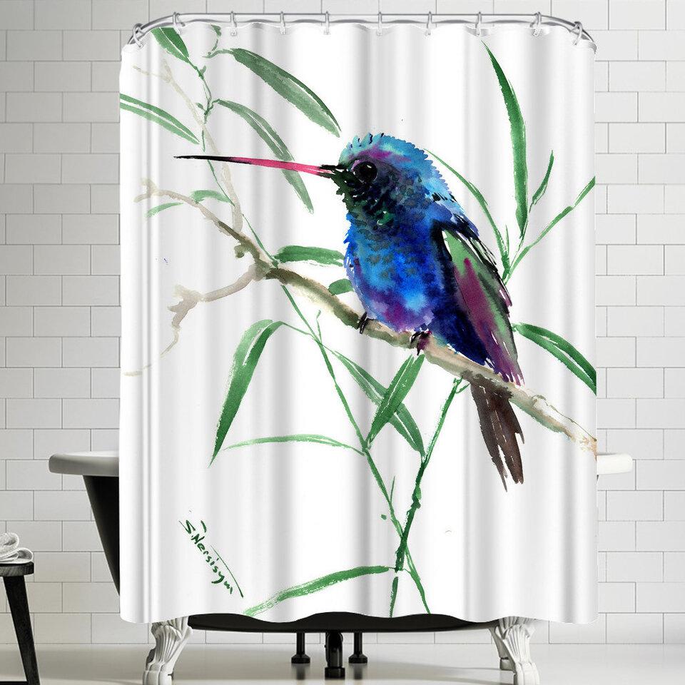 East Urban Home Suren Nersisyan Hummingbird Ii Single Shower Curtain Wayfair