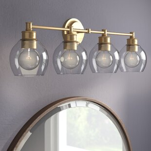 Affordable Maria 4-Light Vanity Light with Clear Glass ByLangley Street