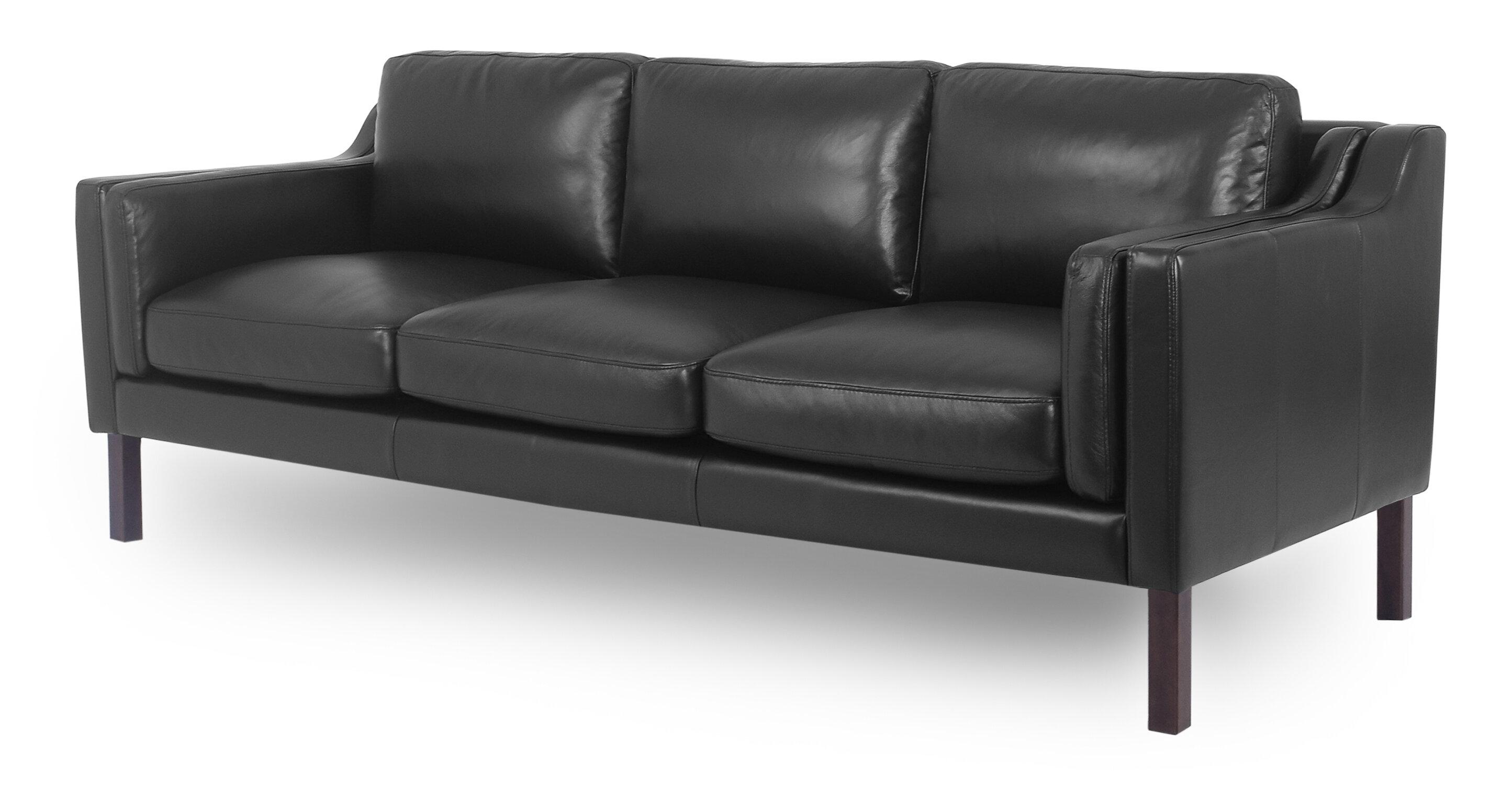 Rolando Mid Century Leather Sofa