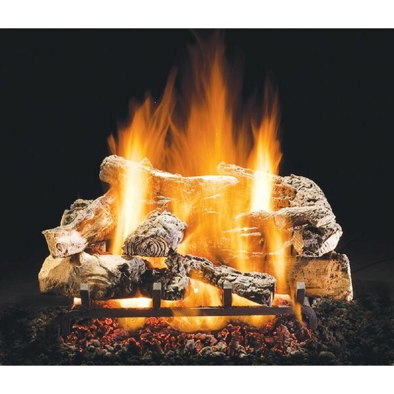 Hargrovegaslogs Rustic Timber Vented Natural Gas Propane Fireplace Log Set Wayfair