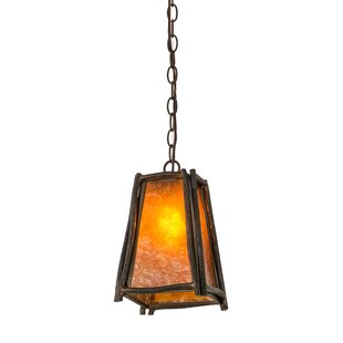 Meyda Tiffany Greenbriar Oak Sticks 1-Light Lantern Pendant