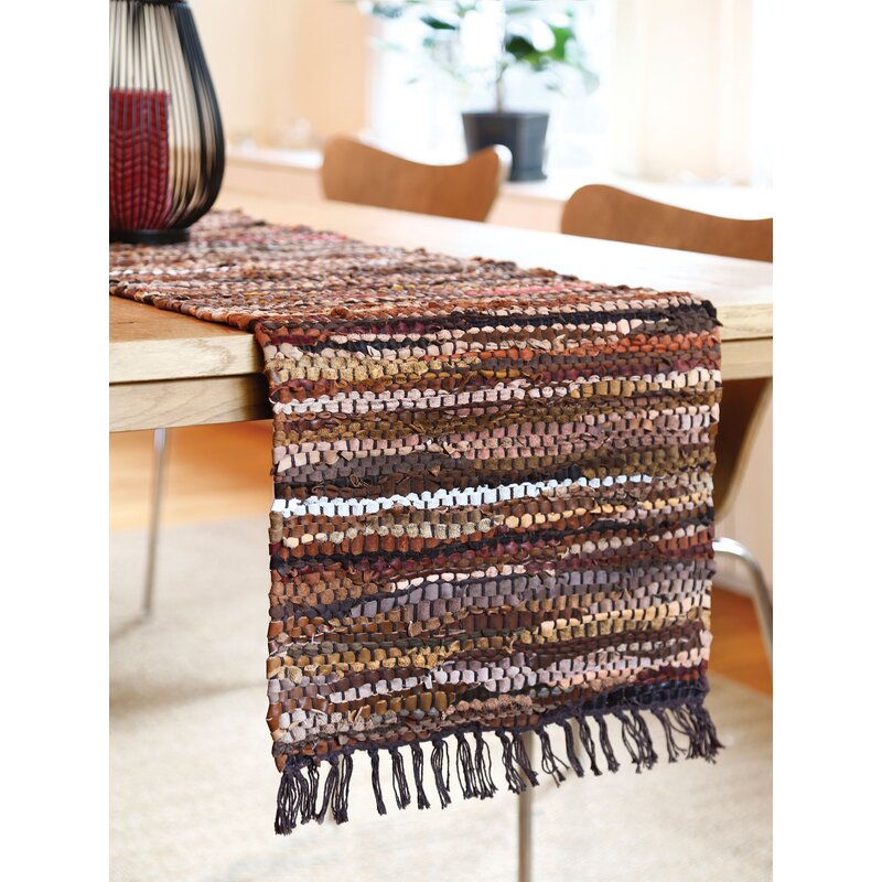 Charmant Tucson Leather Table Runner