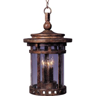 Carcassonne 3 Light Outdoor Hanging Lantern by Loon Peak