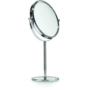 Affordable Price Houtz Double-Sided Makeup/Shaving Mirror By Charlton Home