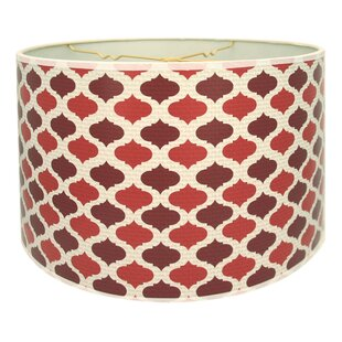 Two-Tone Mediterraneanesque Designer Hard Back 10 Paper Drum Lamp Shade