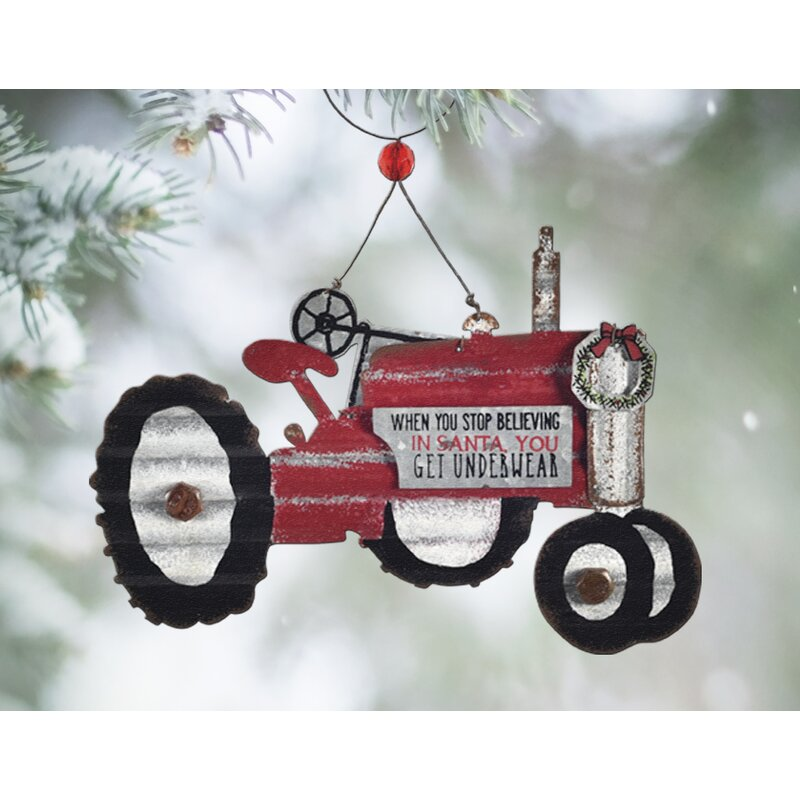 The Holiday Aisle Tractor Holiday Shaped Ornament Wayfair