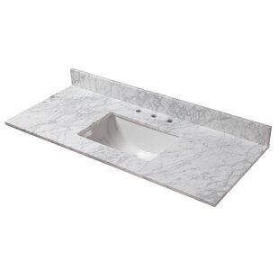 Marble 49 Single Bathroom Vanity Top By Cahaba