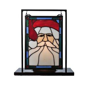 Meyda Tiffany Holiday Santa Head Lighted Mini Lamp
