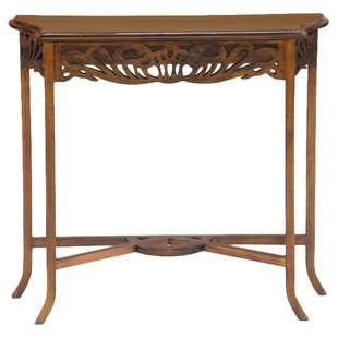 Relling Carved Console Table By Rosalind Wheeler