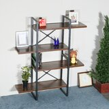 Fall 56.69'' H x 47.24'' W Metal Etagere Bookcase by 17 Stories