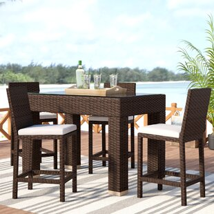 Wrisley 5 Piece Bar Height Dining Set by Beachcrest Home