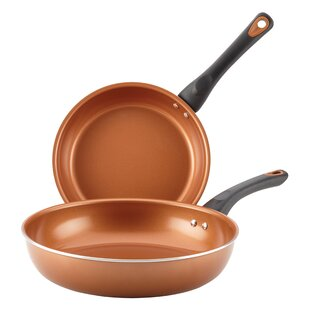 Glide Copper Ceramic 2 Piece Non-Stick Frying Pan/Skillet Set (Set of 2)