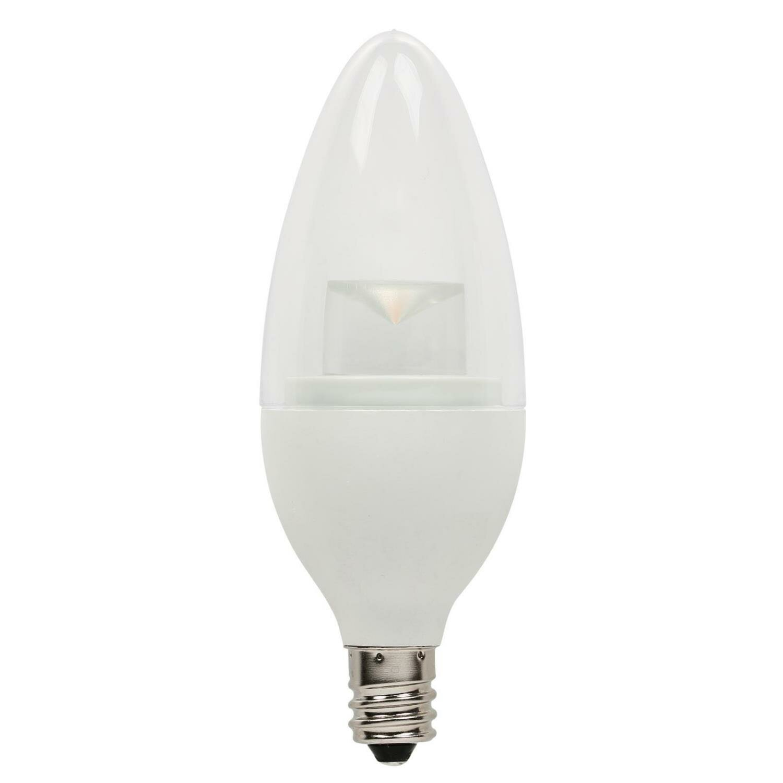 40w E12 Candelabra Led Dimmable Light Bulb Warm White Base