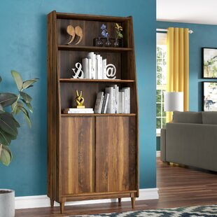 8 deep bookcase globalopportunities posner standard bookcase bookcases with doors youll love wayfair