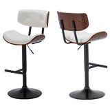 Ownby Adjustable Height Swivel Bar Stool (Set of 2) by Orren Ellis