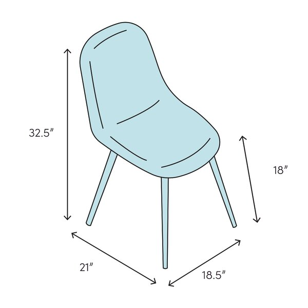 Hashtag Home Conyers Side Chair In White Wayfair