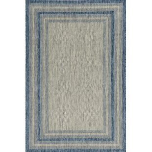 Malchow Navy Indoor/Outdoor Area Rug