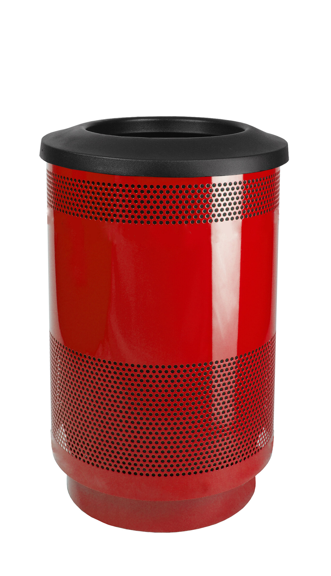 Witt Stadium Series Perforated Metal Receptacle 35 Gallon Trash Can Wayfair