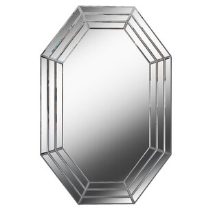 Compare prices Carita Beveled Glass Wall Mirror ByRosdorf Park