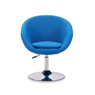 Orren Ellis Helmuth Swivel Barrel Chair