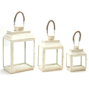 Gracie Oaks 3 Piece Metal Lantern Set